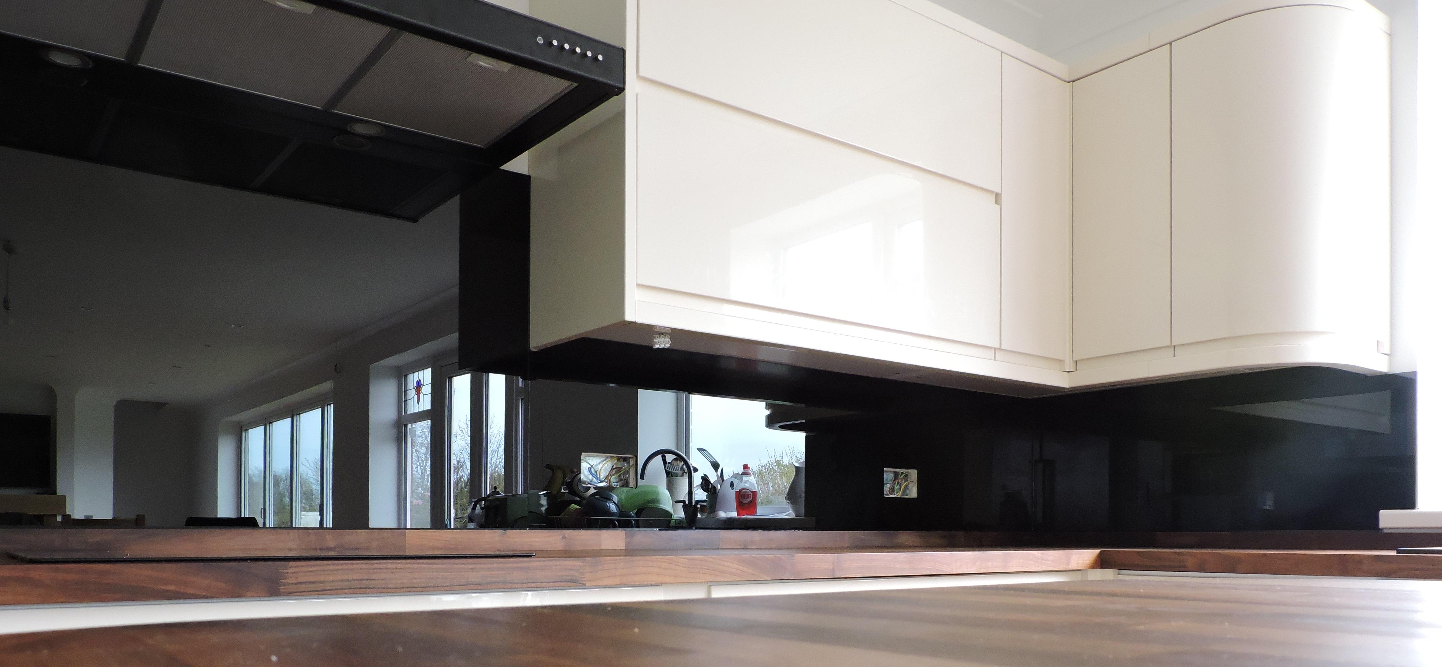 Black Splashback Kitchen Splashback In Signal Black