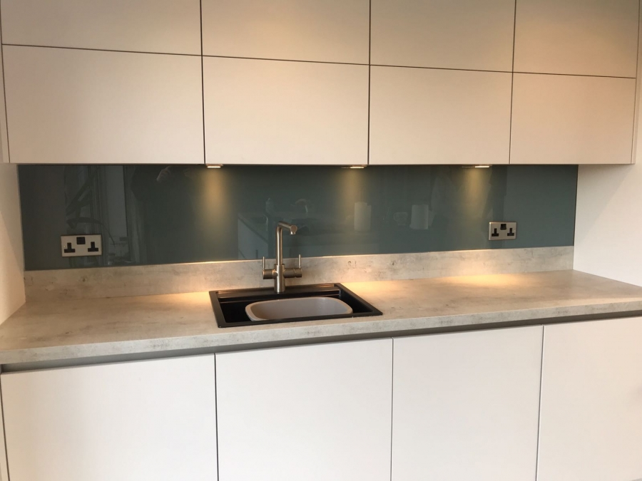 blue splashback