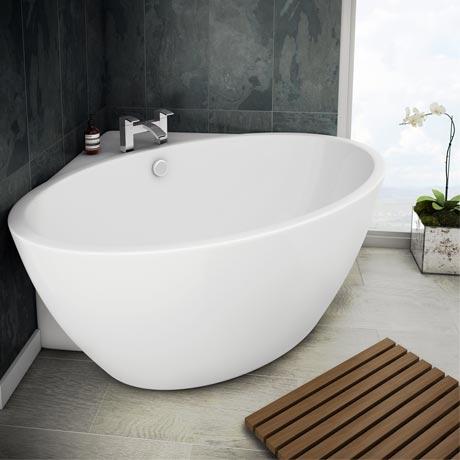 Orbit Corner Modern Free Standing Bath