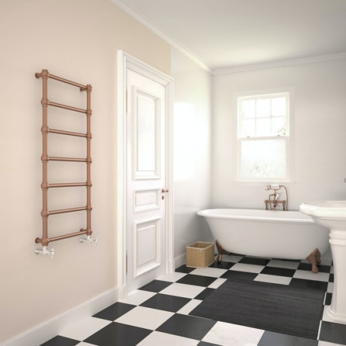 Terma Retro bright copper designer towel rail