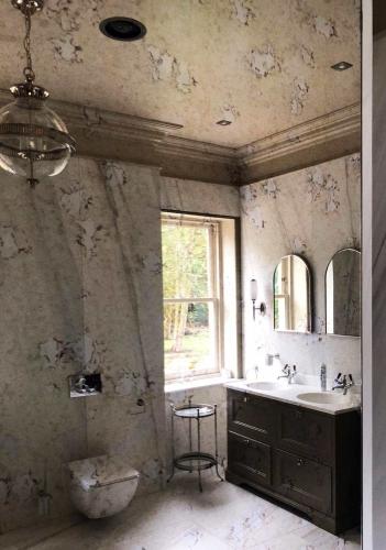 antique mirror victorian bathroom